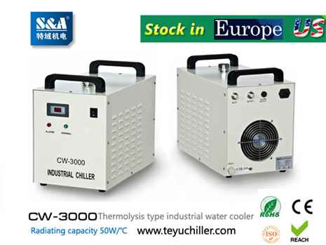 S&A water-cooled chiller CW-3000 AC220V, 50Hz for co2 laser or CNC spindle